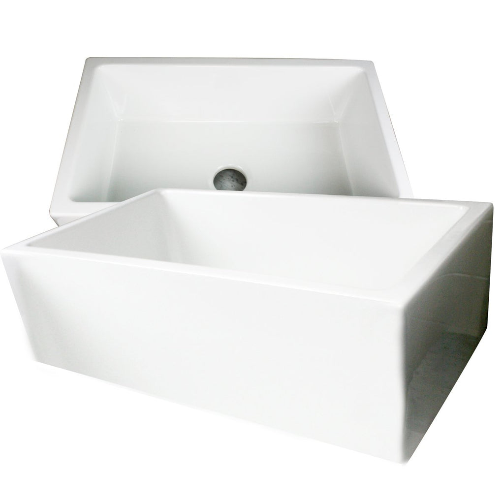 Nantucket Sinks 30 Inch Italian Farmhouse Fireclay Sink Hyannis-30