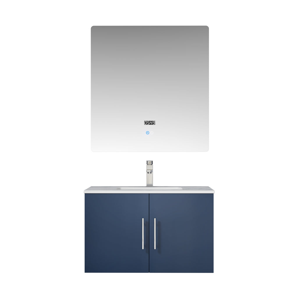 "Geneva 30"" Navy Blue Single Bathroom Vanity"