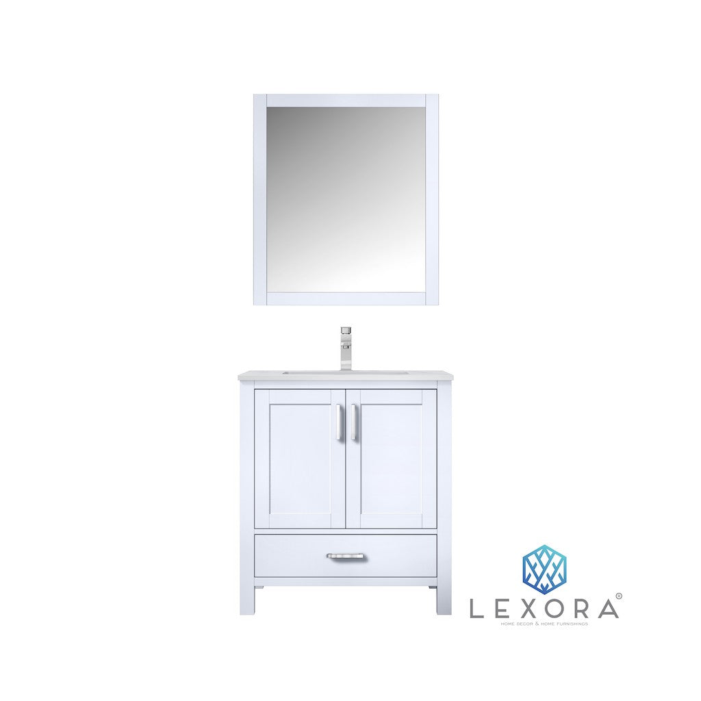 "Jacques 30"" White Single Bathroom Vanity"