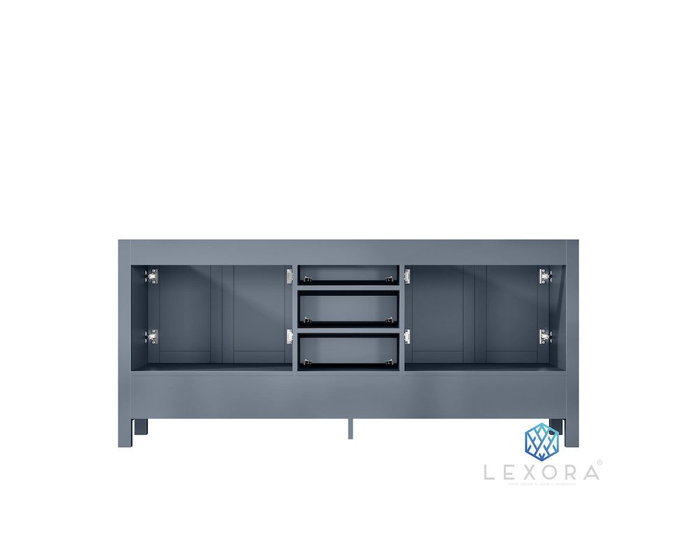 "Jacques 72"" Dark Grey Double Bathroom Vanity"