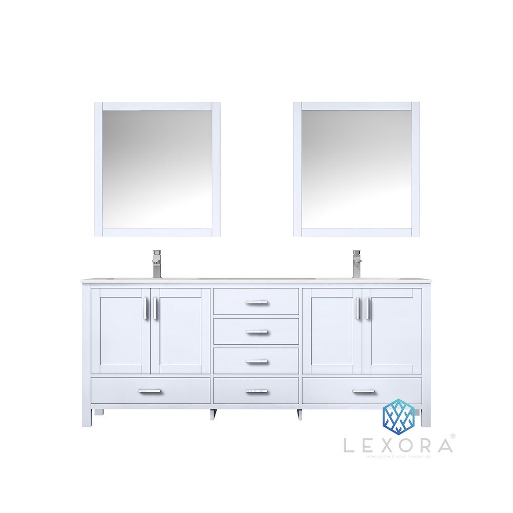 "Jacques 80"" White Double Bathroom Vanity"
