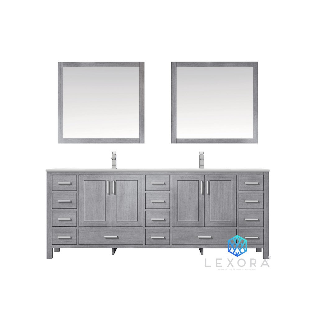 "Jacques 84"" Distressed Grey Double Bathroom Vanity"