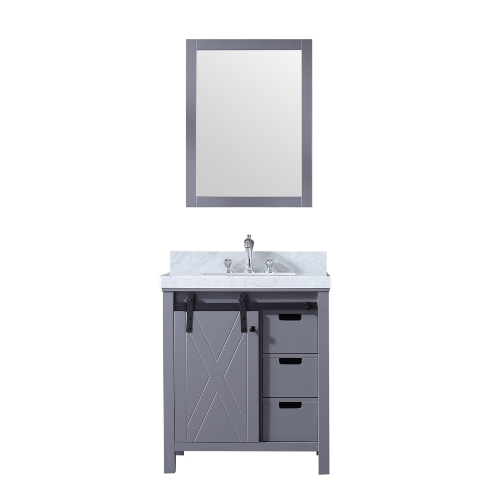 "Marsyas 30"" Dark Grey Single Bathroom Vanity"
