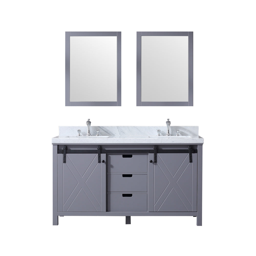 "Marsyas 60"" Dark Grey Double Bathroom Vanity"