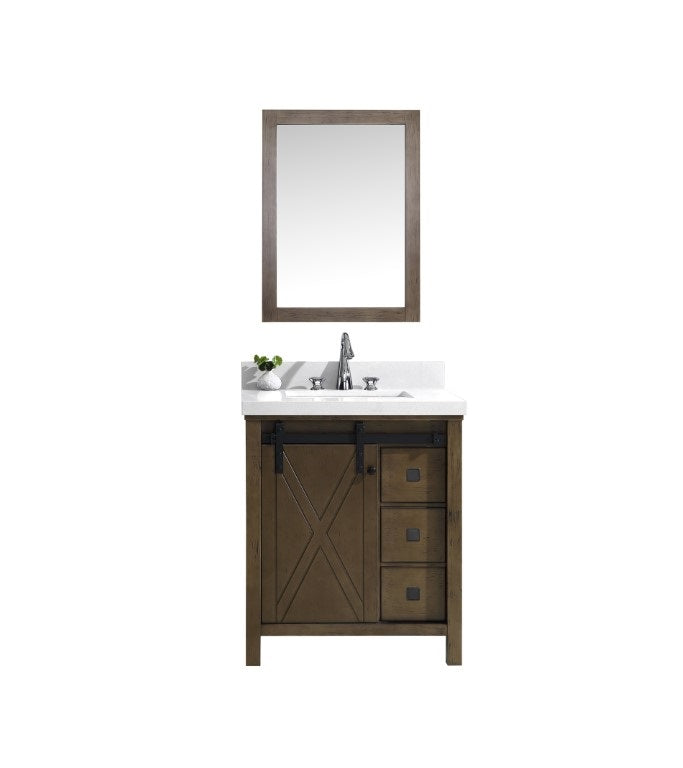 "Marsyas Veluti 30"" Rustic Brown Single Bathroom Vanity"