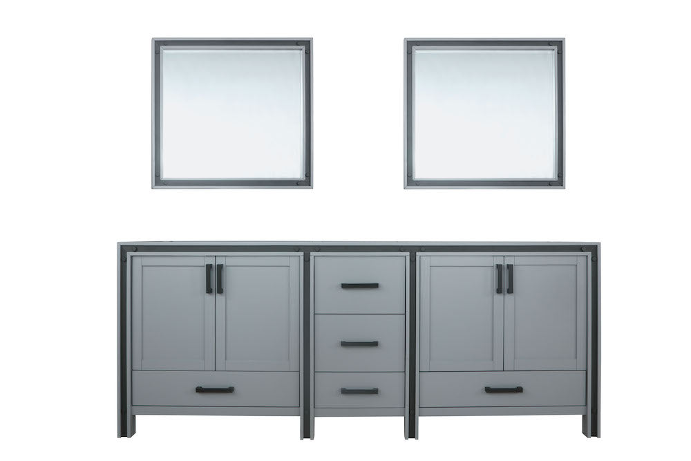 "Ziva 84"" Dark Grey Double Bathroom Vanity"