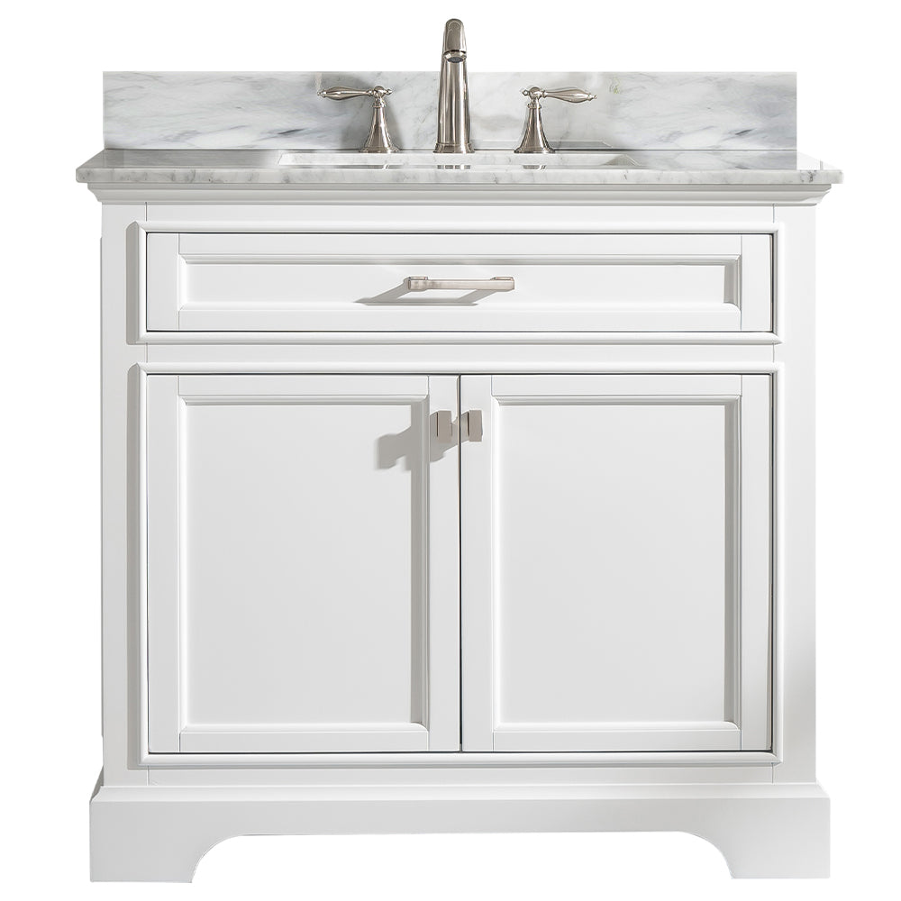 "Milano 36"" Single Bathroom Vanity - White"