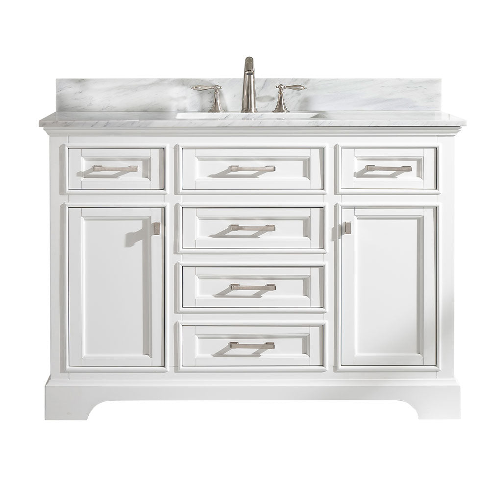"Milano 48"" Single Sink Bathroom Vanity - White"