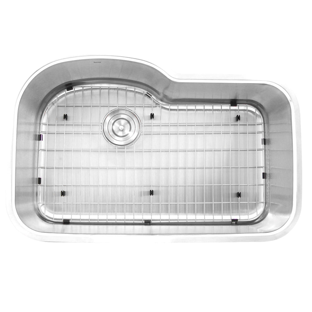 Nantucket Sinks MOBYXL-16 Single Bowl Oblong Undermount Stainless Steel Kitchen Sink, 16 Gauge