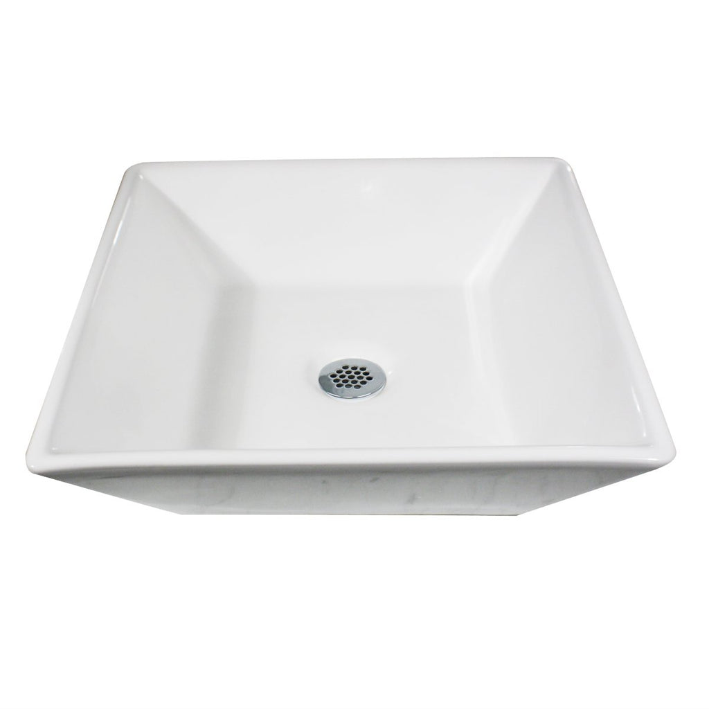Nantucket Sinks Square Tapered White Vessel Sink NSV109