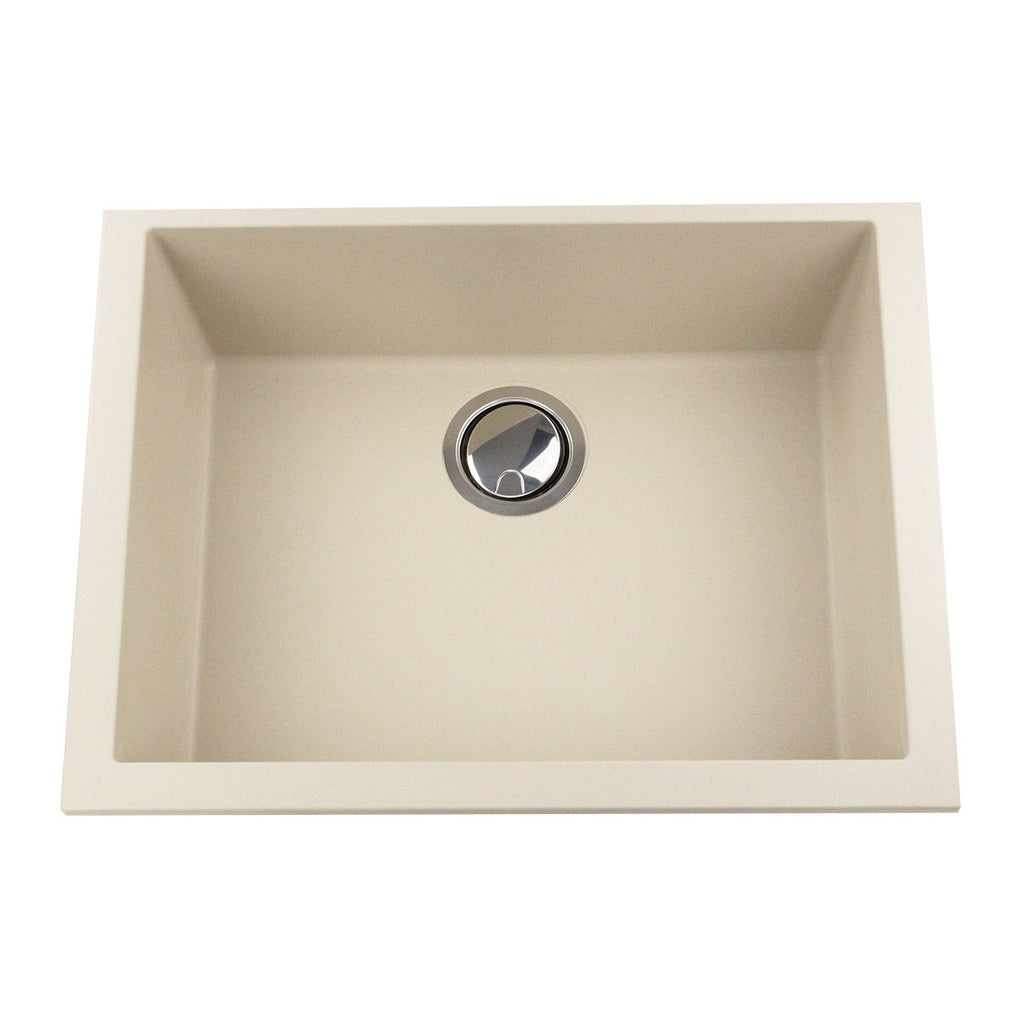 Nantucket Sinks Small Single Bowl Undermount Granite Composite Sand