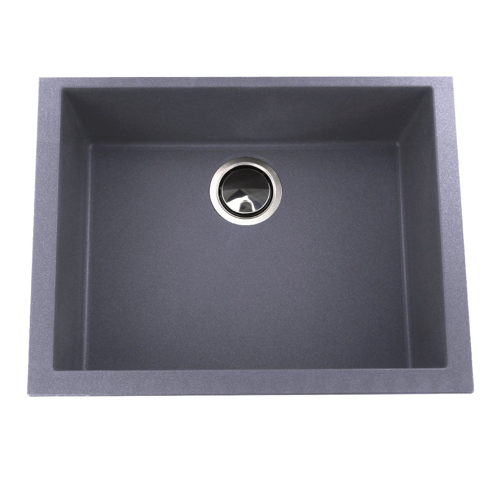 Nantucket Sinks Small Single Bowl Undermount Granite Composite Titanium