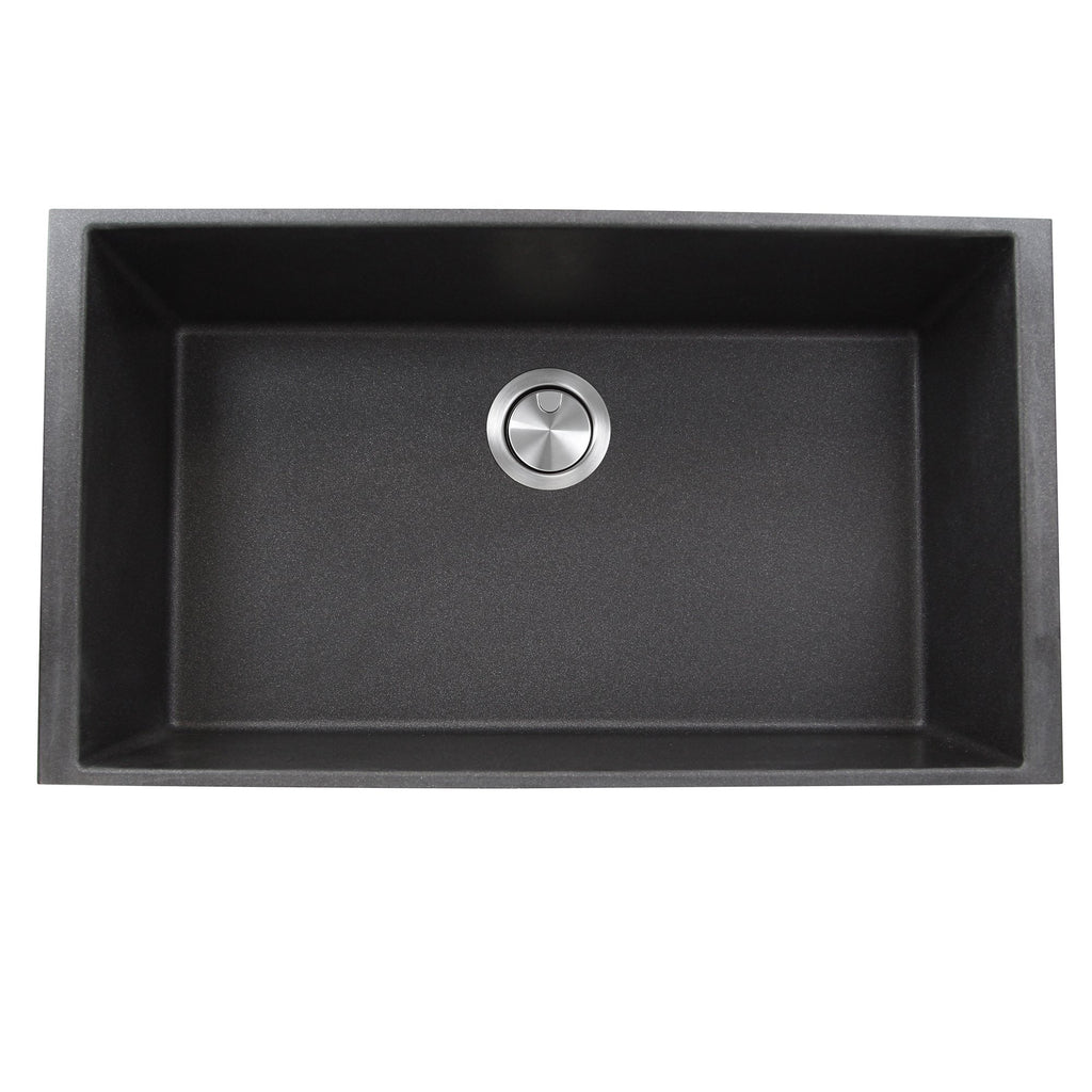 Nantucket Sinks 33-inch Undermount Granite Composite Sink in Black
