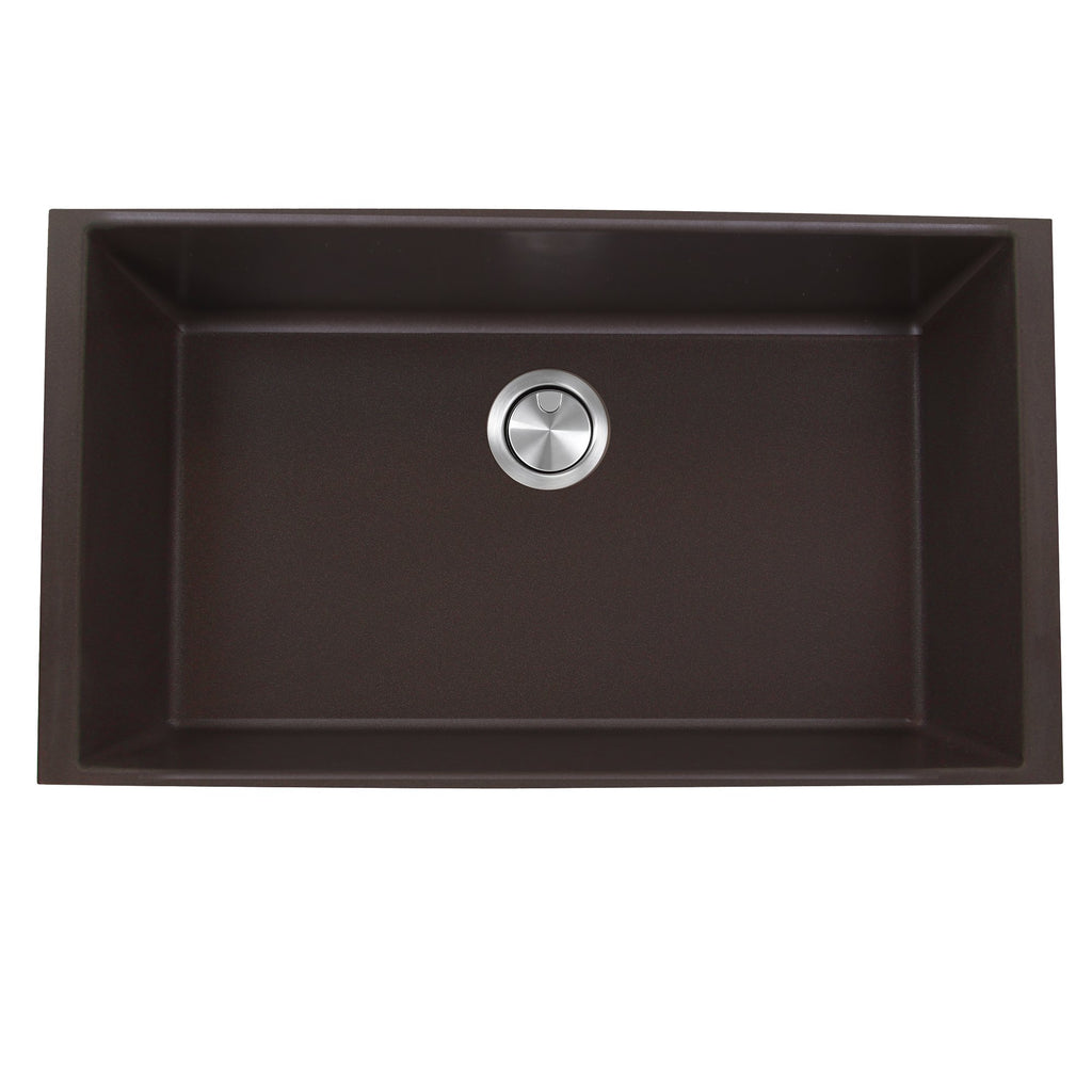 Nantucket Sinks 33-inch Undermount Granite Composite Sink in Brown