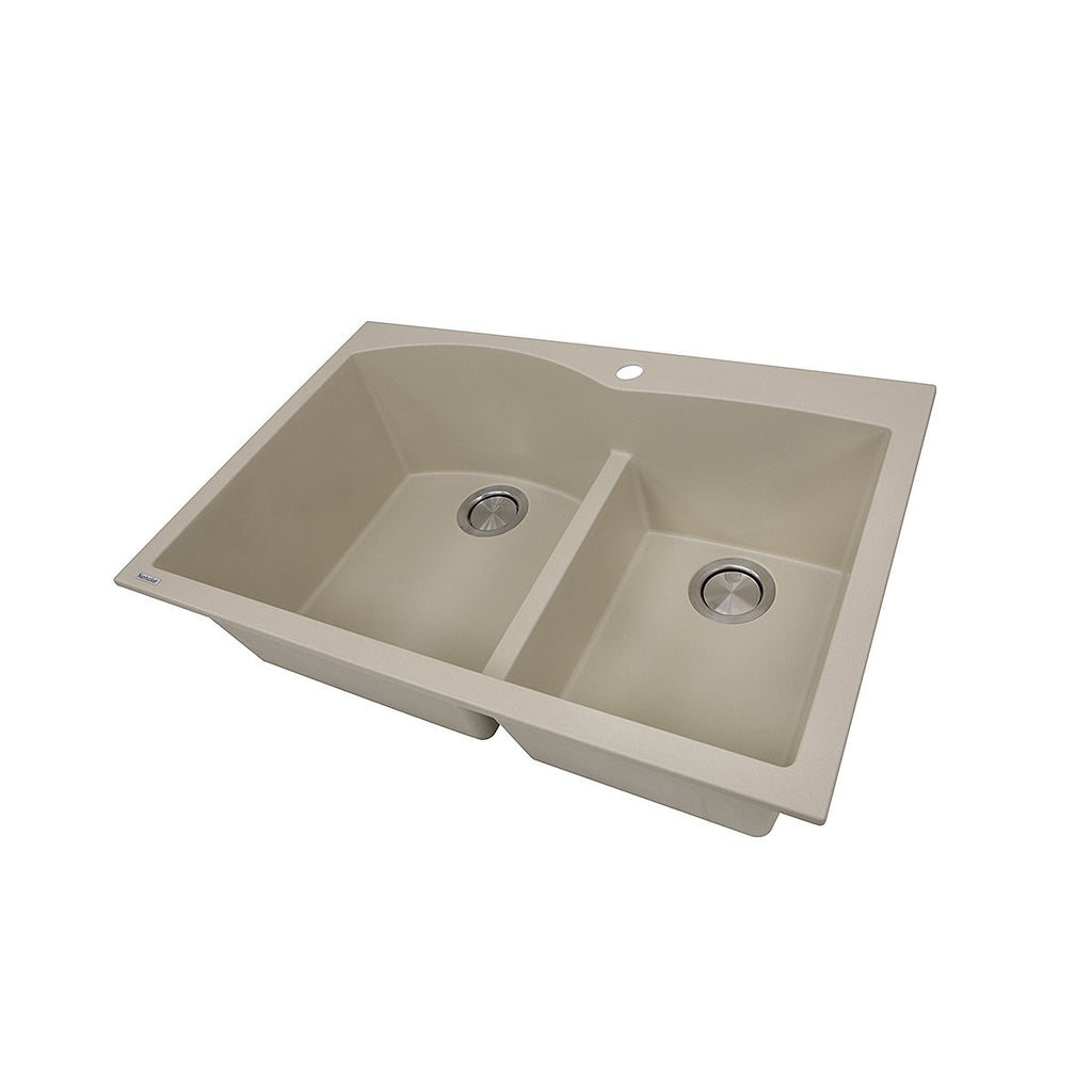 Nantucket Sinks 60/40 Double Bowl Dual-mount Granite Composite Sand