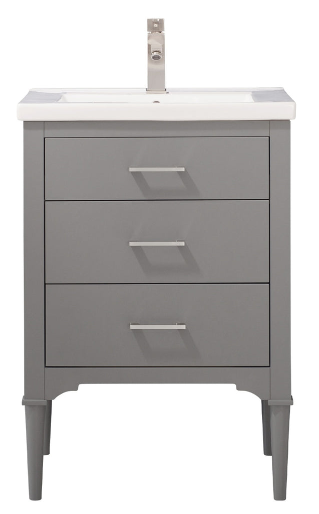 "Mason 24"" Single Sink Bathroom Vanity - Gray"
