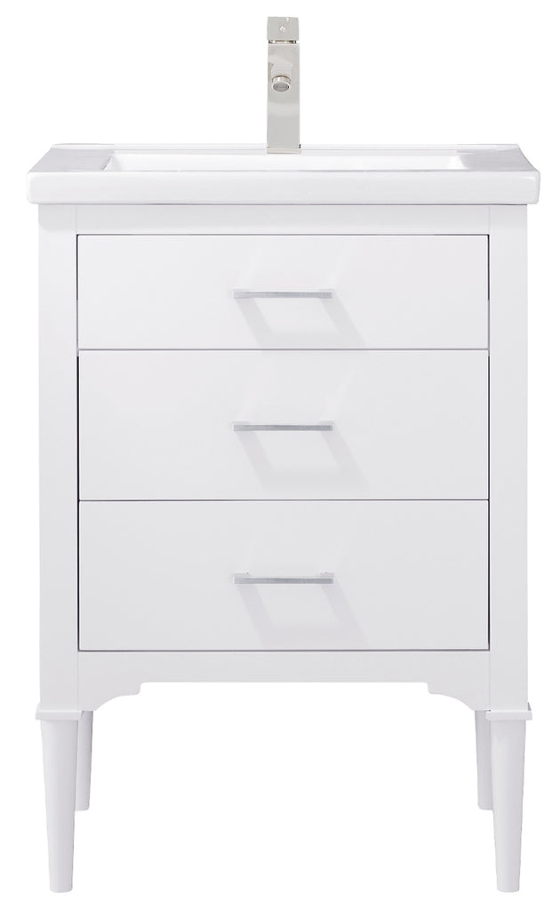 "Mason 24"" Single Sink Bathroom Vanity - White"