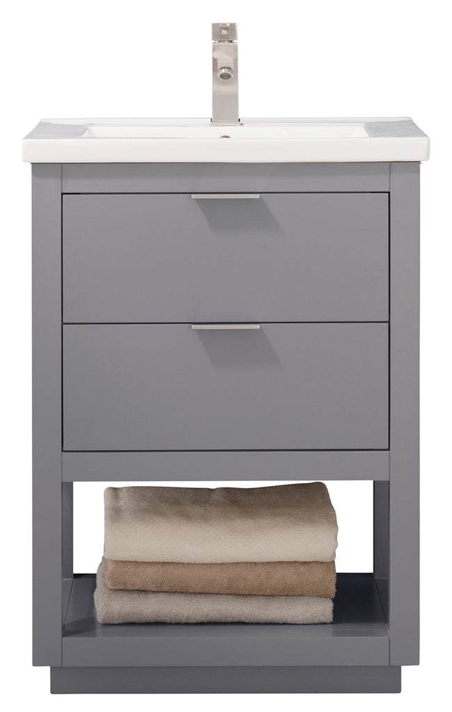 "Klein 24"" Single Sink Bathroom Vanity - Gray"