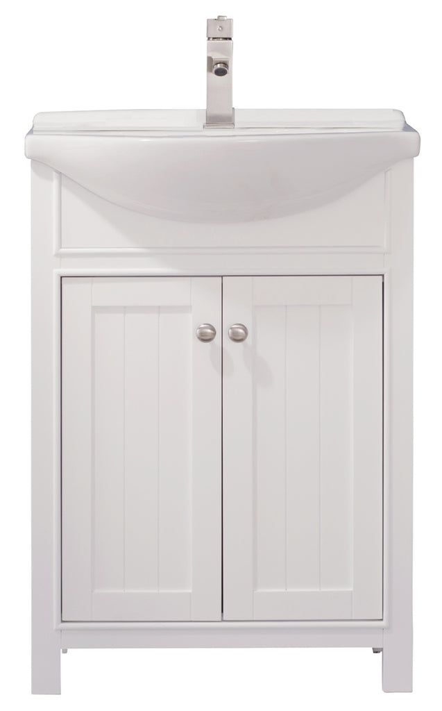 "Marian 24"" Single Sink Bathroom Vanity - White"