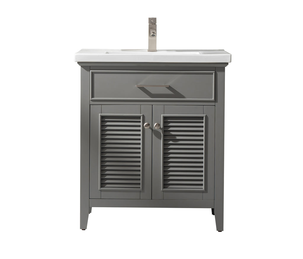 "Cameron 30"" Single Sink Bathroom Vanity - Gray"