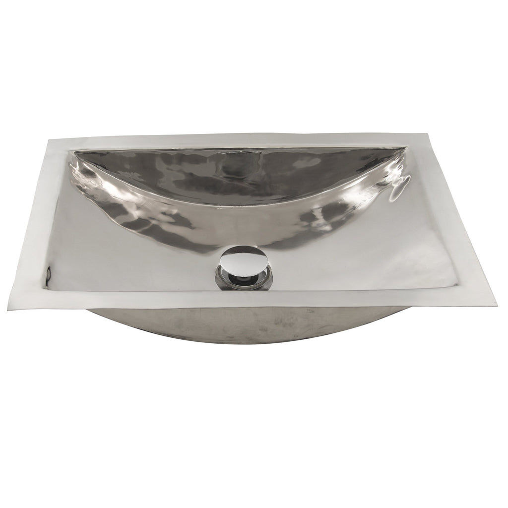 Nantucket Sinks Stainless Steel Rectangle Bathroom Sink