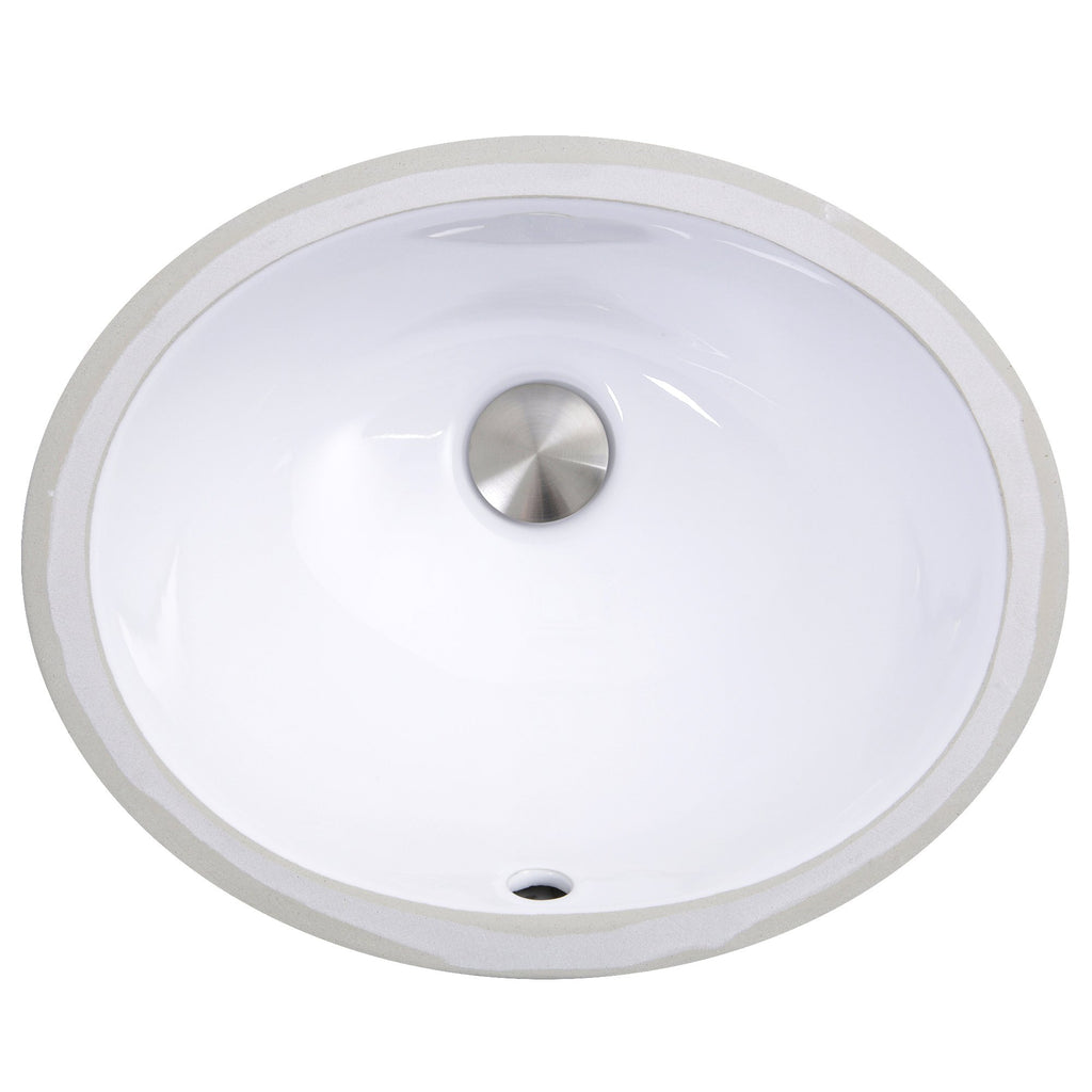Nantucket Sinks  13 Inch X 10 Inch Undermount Ceramic Sink In White UM-13x10-W