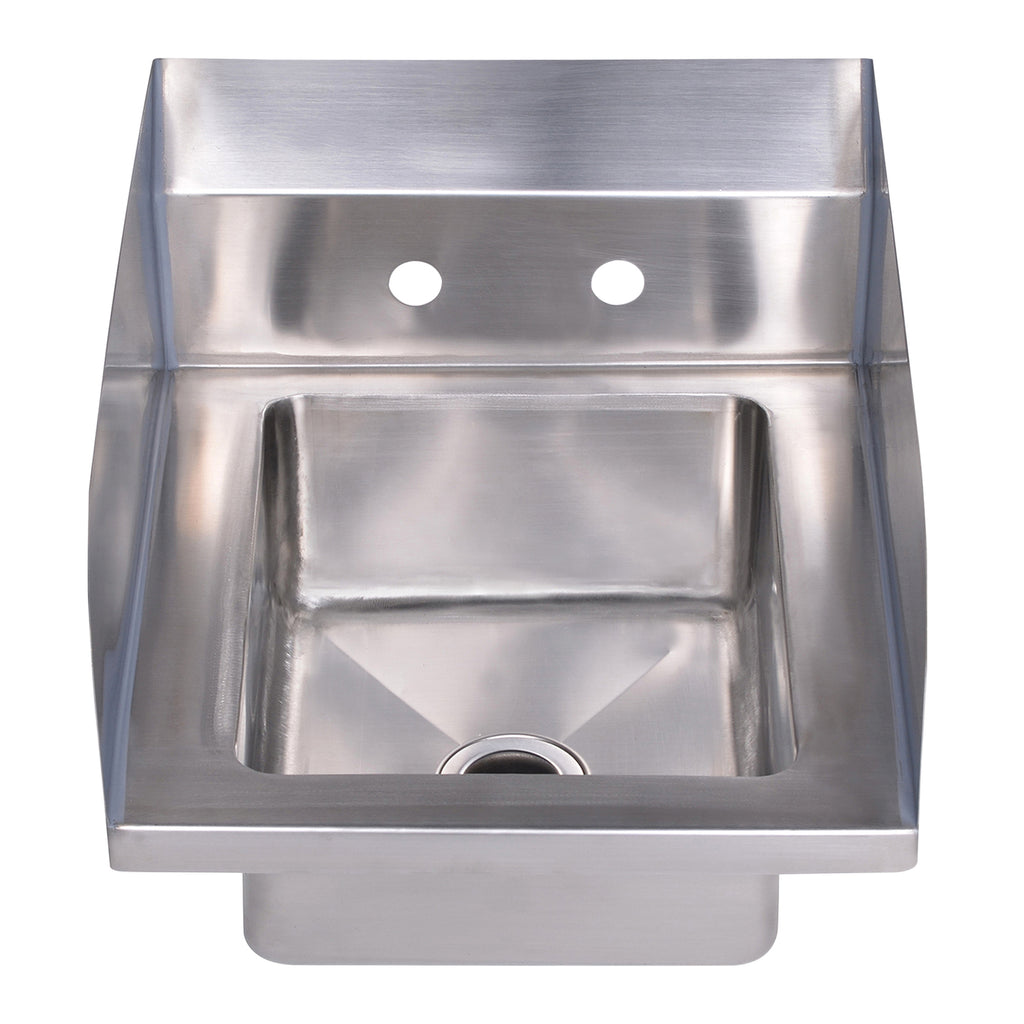 "Noah's Collection Small Utility Single Bowl Drop-in/Wall Mount Hand Sink with 6"" backsplash"