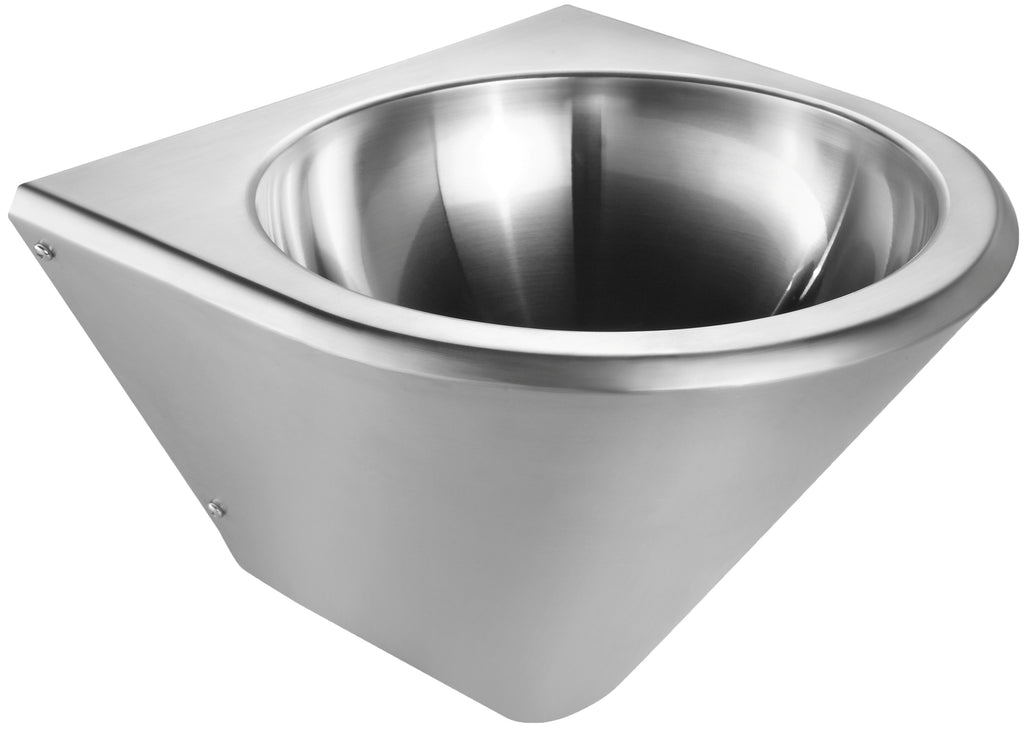 Noah's Collection Brushed Stainless Steel Commercial Single Bowl Wall Mount Wash Basin