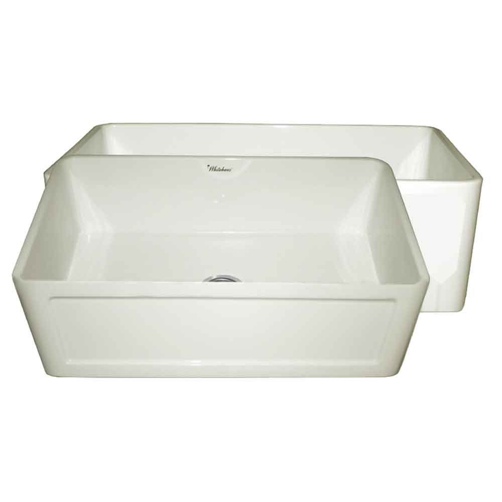 "Farmhaus Fireclay Reversible 27"" Sink with a Plain Front Apron on One Side and a Concave Front Apron on the Other"