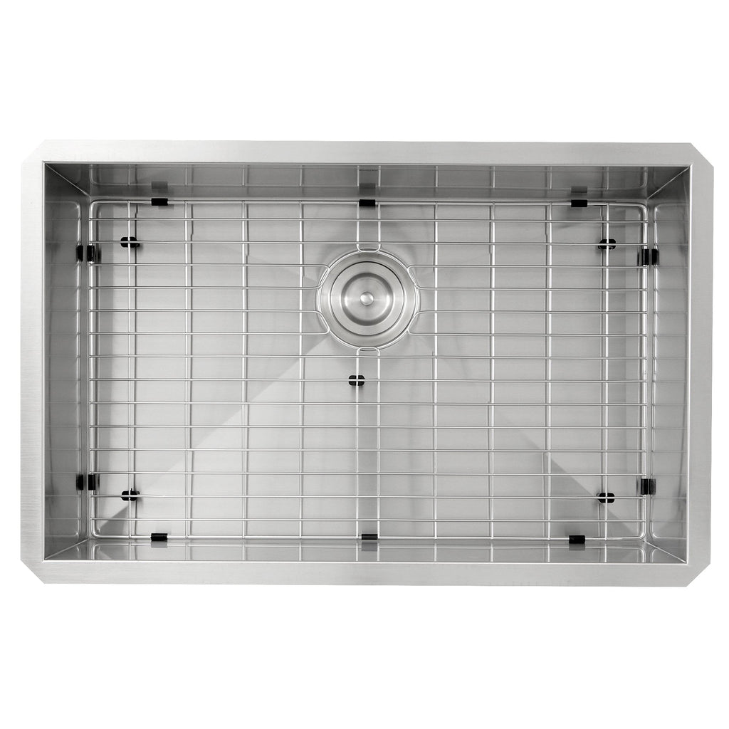 Nantucket Sinks ZR2818-16 - 28 Inch Pro Series Large Rectangle Single Bowl Undermount Zero Radius Stainless Steel Kitchen Sink