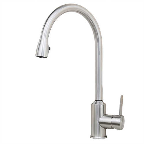 Cario 16-inch All Stainless Steel Lead-Free Pull-Down Kitchen Faucet in Stainless Steel