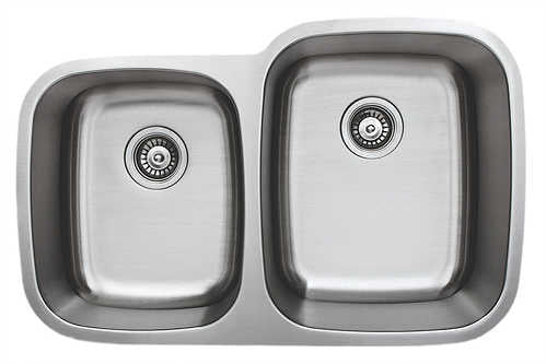 Wells Sinkware 32-inch 18-gauge Undermount 40/60 Double Bowl Stainless Steel Kitchen Sink