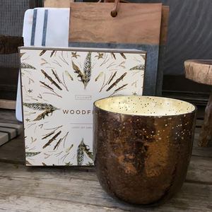 Illume wood fire luxe soy candle