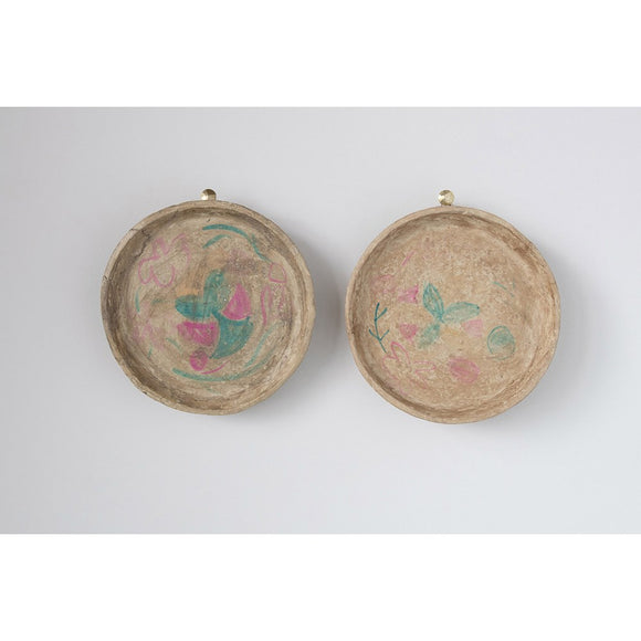 Hand-Painted Vintage Reproduction Paper Mache Tray