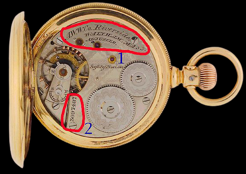 Serial Number of Antique Pocket watch
