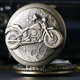 Biker Bronze Quartz Full Hunter Pocket Watch - Country Road - Pocket Watch Net