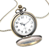 Bonze Quartz Full Hunter Pocket Watch - Carthage Eagle - Pocket Watch Net