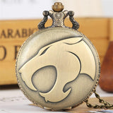 Bronze Quartz Full Hunter Pocket Watch - Black Panther - Pocket Watch Net