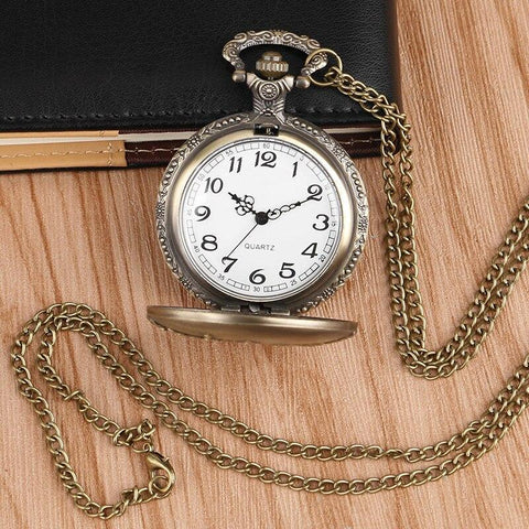 Bronze Quartz Full Hunter Pocket Watch - Downtown - Pocket Watch Net
