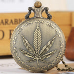 Bronze Quartz Full Hunter Pocket Watch - Hemp - Pocket Watch Net