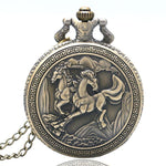 Bronze Quartz Full Hunter Pocket Watch - Pegasus - Pocket Watch Net