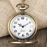Bronze Quartz Full Hunter Pocket Watch - Simba - Pocket Watch Net