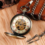 Bronze Quartz Full Hunter Pocket Watch - Soviet - Pocket Watch Net