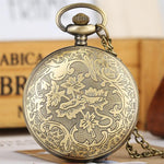 Bronze Quartz Full Hunter Pocket Watch - Statue of Liberty - Pocket Watch Net