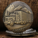 Bronze Quartz Full Hunter Pocket Watch - Trucker - Pocket Watch Net