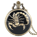 Bronze Steampunk Quartz Full Hunter Pocket Watch - Skorp - Pocket Watch Net