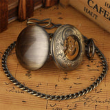 Copper Automatic Full Hunter Pocket Watch - Copper Lining - Pocket Watch Net