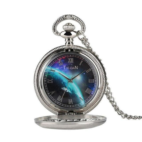 Modern Quartz Half Hunter Pocket Watch - Multiverse - Pocket Watch Net