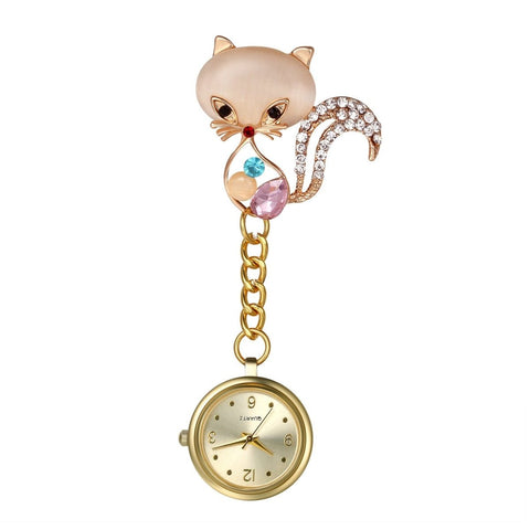 Nurse Watch - Cute Cat Design - Pocket Watch Net