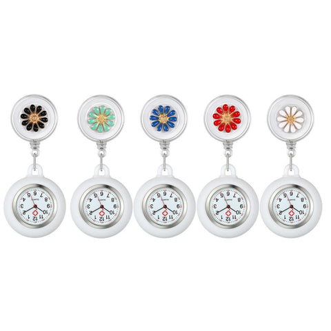 Nurse Watch - Flowers Pattern Collection - Pocket Watch Net